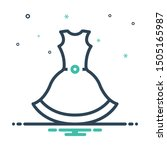 colorful mix icon for dress... | Shutterstock .eps vector #1505165987