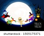 halloween cartoon character set ...   Shutterstock .eps vector #1505175371