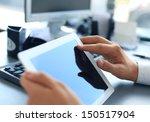 businessman holding digital... | Shutterstock . vector #150517904