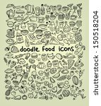 food icons | Shutterstock .eps vector #150518204