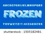 frozen alphabet font. 3d ice... | Shutterstock .eps vector #1505182481