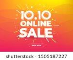 10.10 online shopping day sale...   Shutterstock .eps vector #1505187227