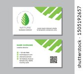 business visit card template... | Shutterstock .eps vector #1505192657