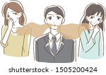 a male with bad breath...   Shutterstock .eps vector #1505200424