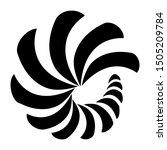 maori koru nautilus spiral logo ... | Shutterstock .eps vector #1505209784