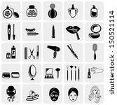 Cosmetics Vector Icons Set On...