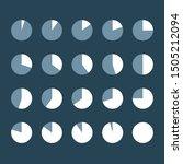 set of white infographic circle ...