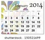 February 2014 Calendar.
