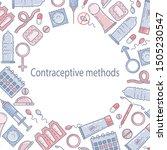 contraceptive methods flat... | Shutterstock .eps vector #1505230547