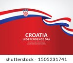 Happy Croatia National Day Celebration vector template, Background Concept for Independence Day and other events, Vector Illustration Design.