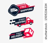 Free delivery service logo badge. Free shipping order icon vector