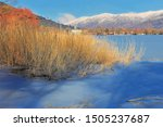 lake golcuk  odemis  turkey  ... | Shutterstock . vector #1505237687
