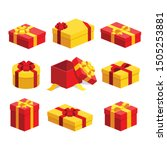 9 various presents   gift boxes ...
