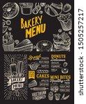 bakery menu template for... | Shutterstock .eps vector #1505257217