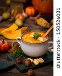 pumpkin soup   Shutterstock . vector #150526031