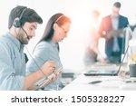 professional team business... | Shutterstock . vector #1505328227