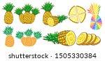 pineapple vector set graphic...   Shutterstock .eps vector #1505330384