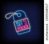 buy one get one free neon signs ... | Shutterstock .eps vector #1505338517