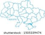 ukraine blue line map vector | Shutterstock .eps vector #1505339474