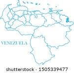 venezuela blue line map vector | Shutterstock .eps vector #1505339477