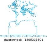world kashmir blue line map... | Shutterstock .eps vector #1505339501