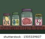 vector horror art with creepy...   Shutterstock .eps vector #1505339837