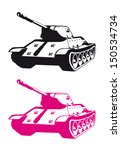 stylized pink and black tank... | Shutterstock .eps vector #150534734