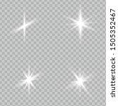 white glowing light explodes on ... | Shutterstock .eps vector #1505352467