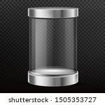 glass cylinder capsule  empty... | Shutterstock .eps vector #1505353727