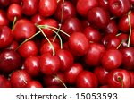 freshly picked heap of cherries | Shutterstock . vector #15053593