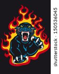 aggression,angry,animal,artwork,attack,beast,big,black,cat,claw,cougar,danger,drawing,emblem,fang