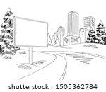 winter street billboard graphic ... | Shutterstock .eps vector #1505362784