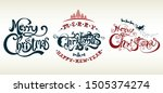 merry christmas and happy new...   Shutterstock .eps vector #1505374274