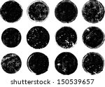 grunge shapes  | Shutterstock .eps vector #150539657