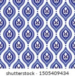 blue and white royal pattern ...   Shutterstock .eps vector #1505409434