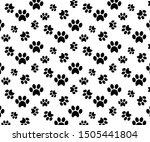 paw print seamless pattern ...   Shutterstock .eps vector #1505441804
