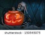 Skull Monster And Halloween...