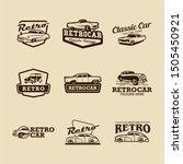 retro car logo design vector | Shutterstock .eps vector #1505450921