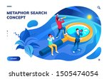 isometric page for search... | Shutterstock .eps vector #1505474054