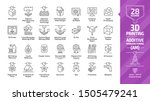 3d printing outline icon set... | Shutterstock .eps vector #1505479241