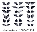 silhouette pair of wings icon.... | Shutterstock .eps vector #1505481914