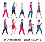 walking people. men and women... | Shutterstock .eps vector #1505481941