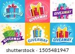 giveaway winner poster. gift... | Shutterstock .eps vector #1505481947