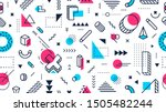 colorful memphis style seamless ... | Shutterstock .eps vector #1505482244