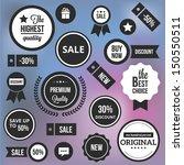 trendy vector badges labels and ... | Shutterstock .eps vector #150550511