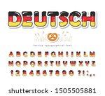 germany cartoon font. german... | Shutterstock .eps vector #1505505881