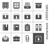 archive icon set. simplus... | Shutterstock .eps vector #150551681