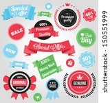 vector colorful stickers labels ... | Shutterstock .eps vector #150551999