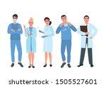 several doctors in medical... | Shutterstock .eps vector #1505527601