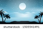snow and palm tree blue winter...   Shutterstock .eps vector #1505541491